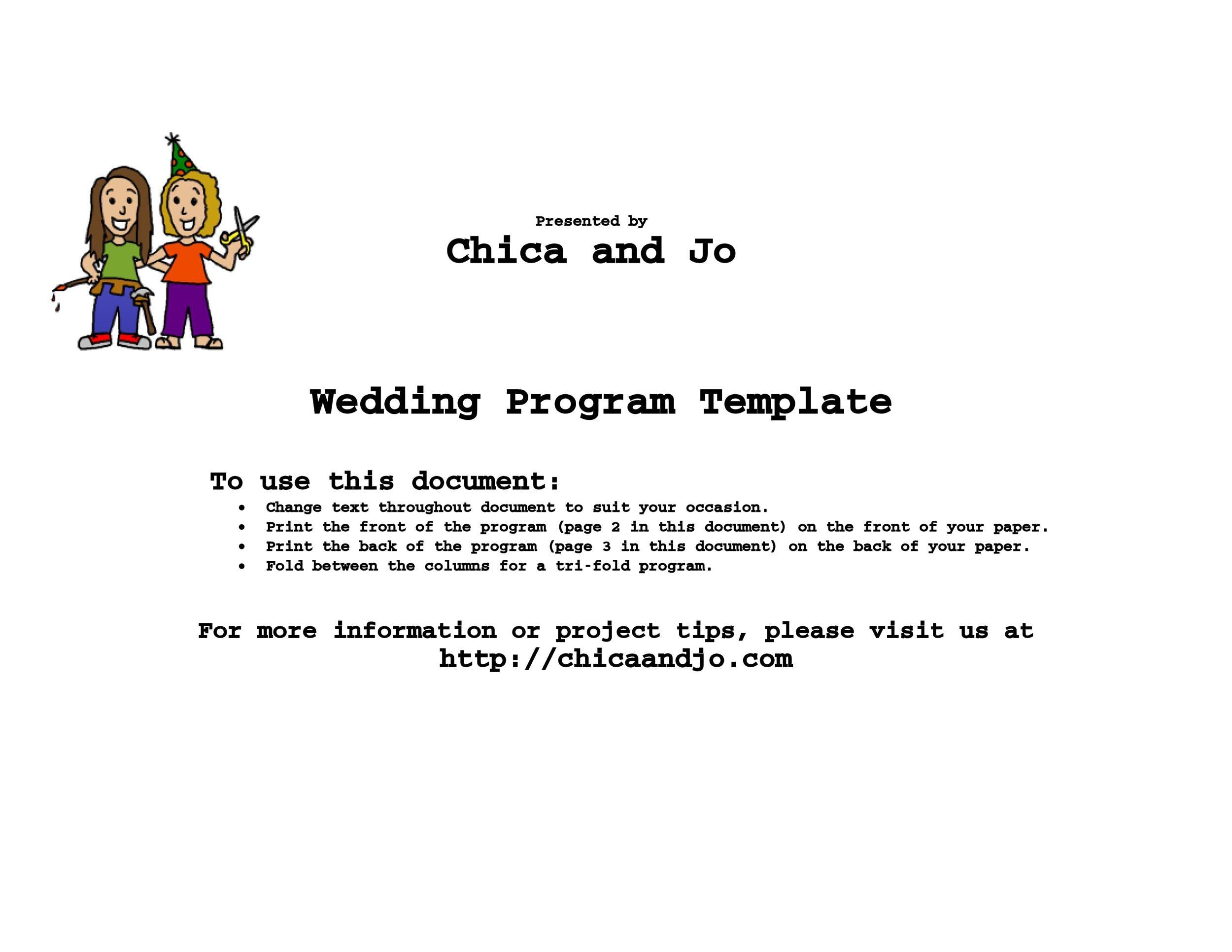 37 Printable Wedding Program Examples Amp Templates