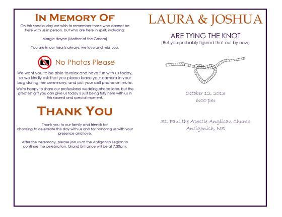 wedding ceremony program wording exles wedding invitation sle