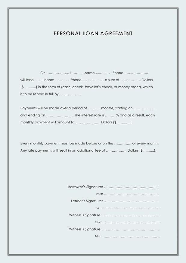 Borrow Money Agreement Sample Letter Visorgede