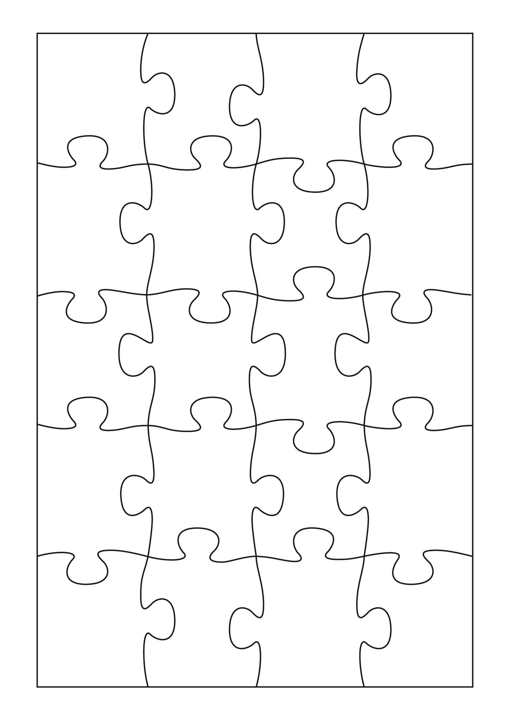 19 Printable Puzzle Piece Templates
