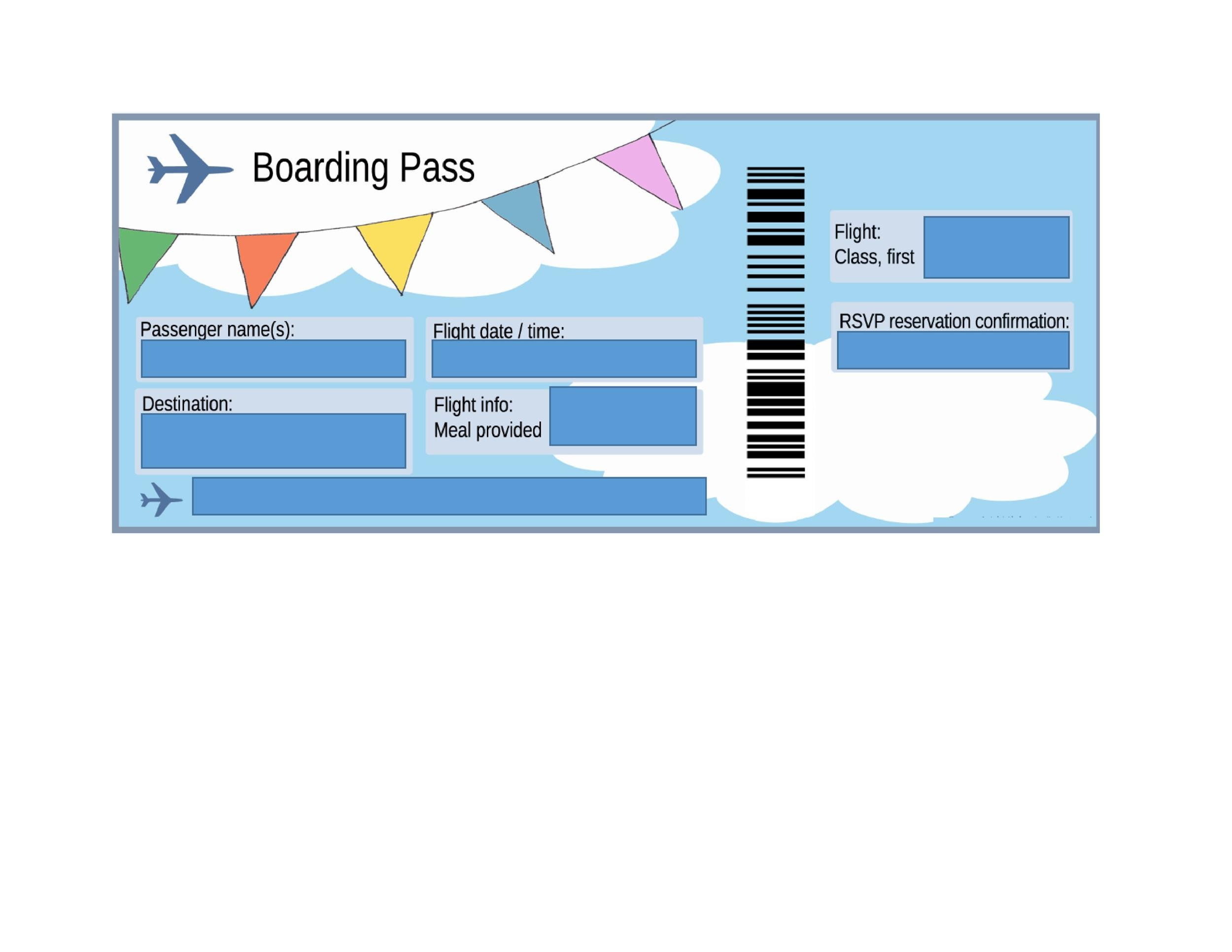 16 Real Amp Fake Boarding Pass Templates