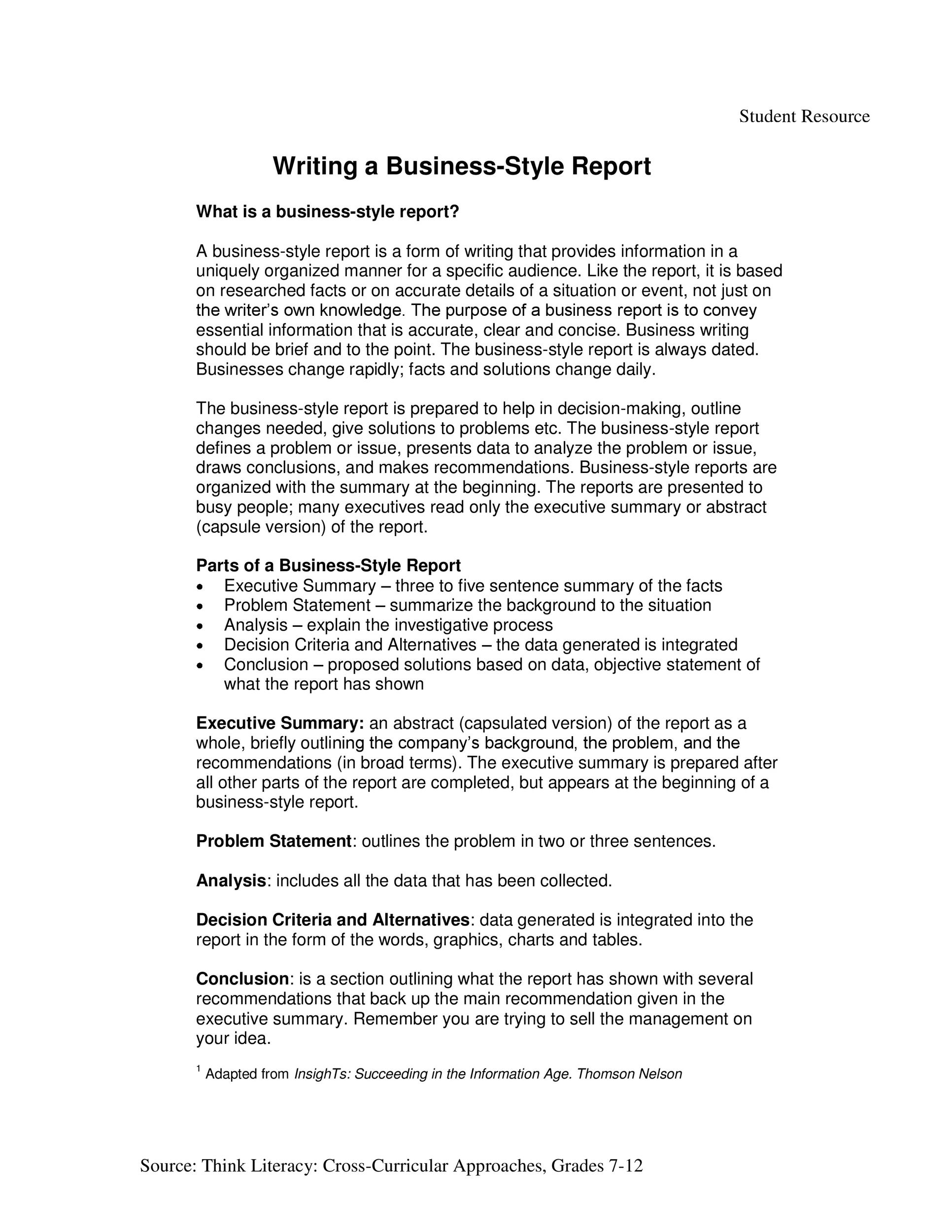 30 Business Report Templates Amp Format Examples Templatelab
