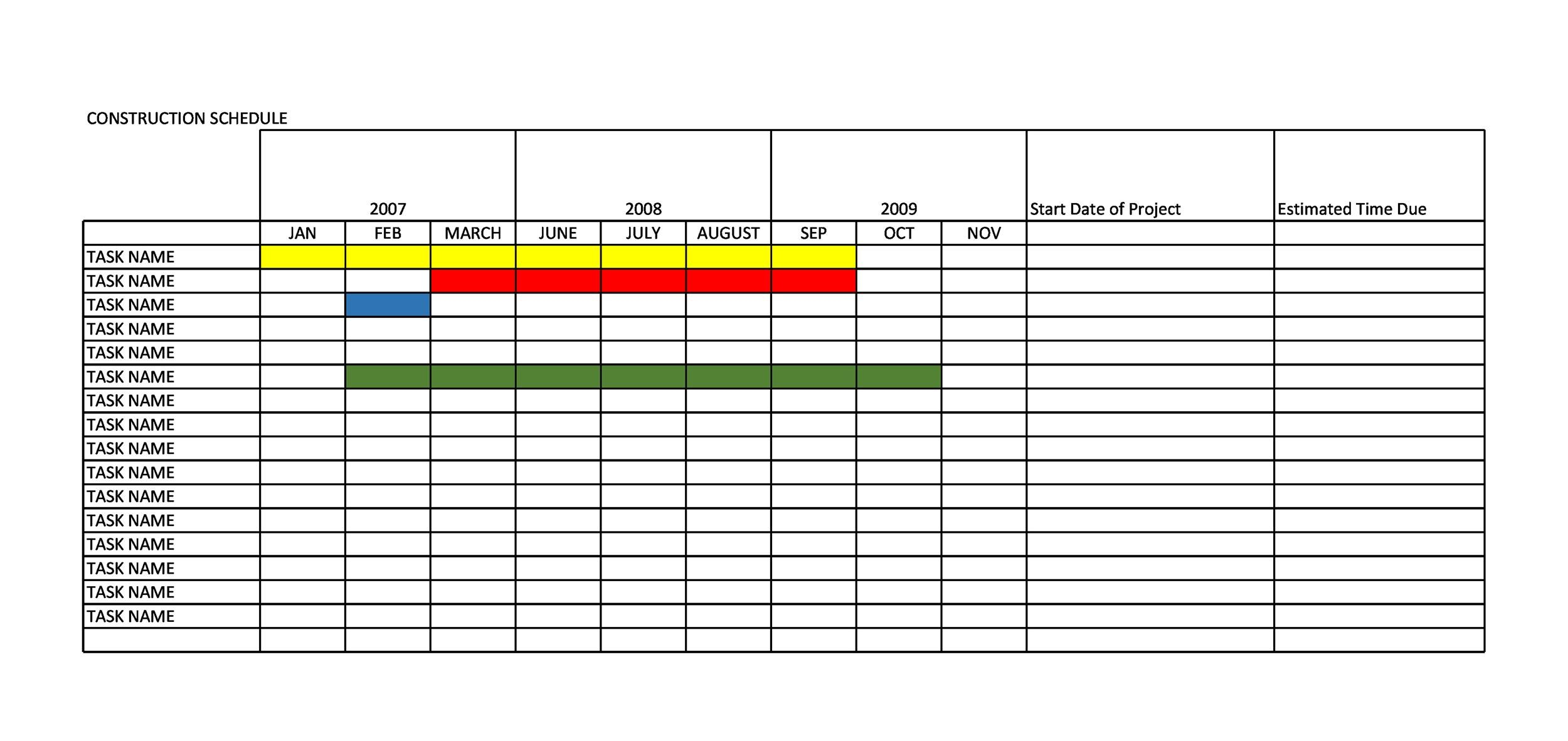 21 Construction Schedule Templates In Word Amp Excel