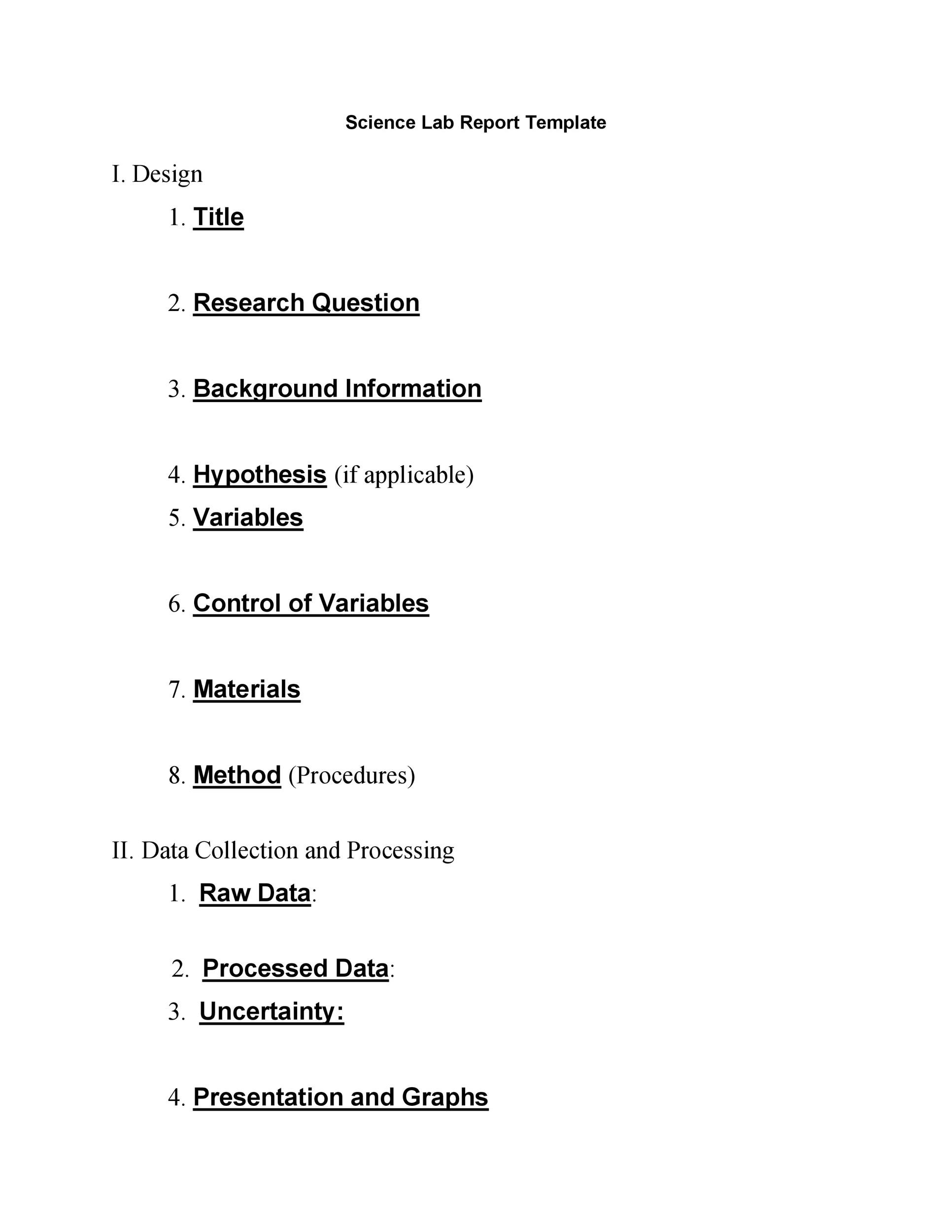 40 Lab Report Templates Amp Format Examples Templatelab