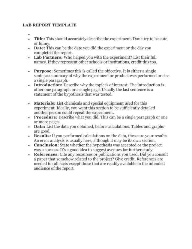 16 Lab Report Templates & Format Examples ᐅ TemplateLab