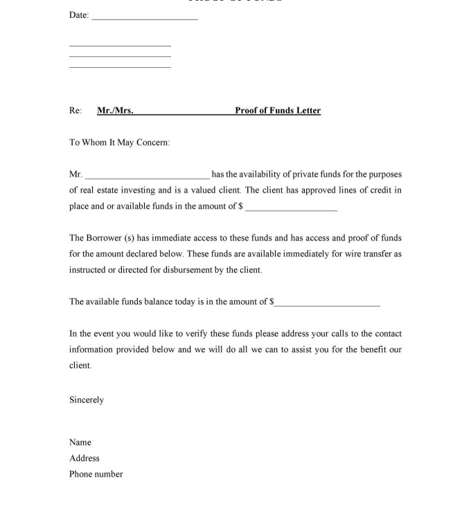 Proof of funds letter sample canada dulahotw 25 best proof of funds letter templates template lab maxwellsz