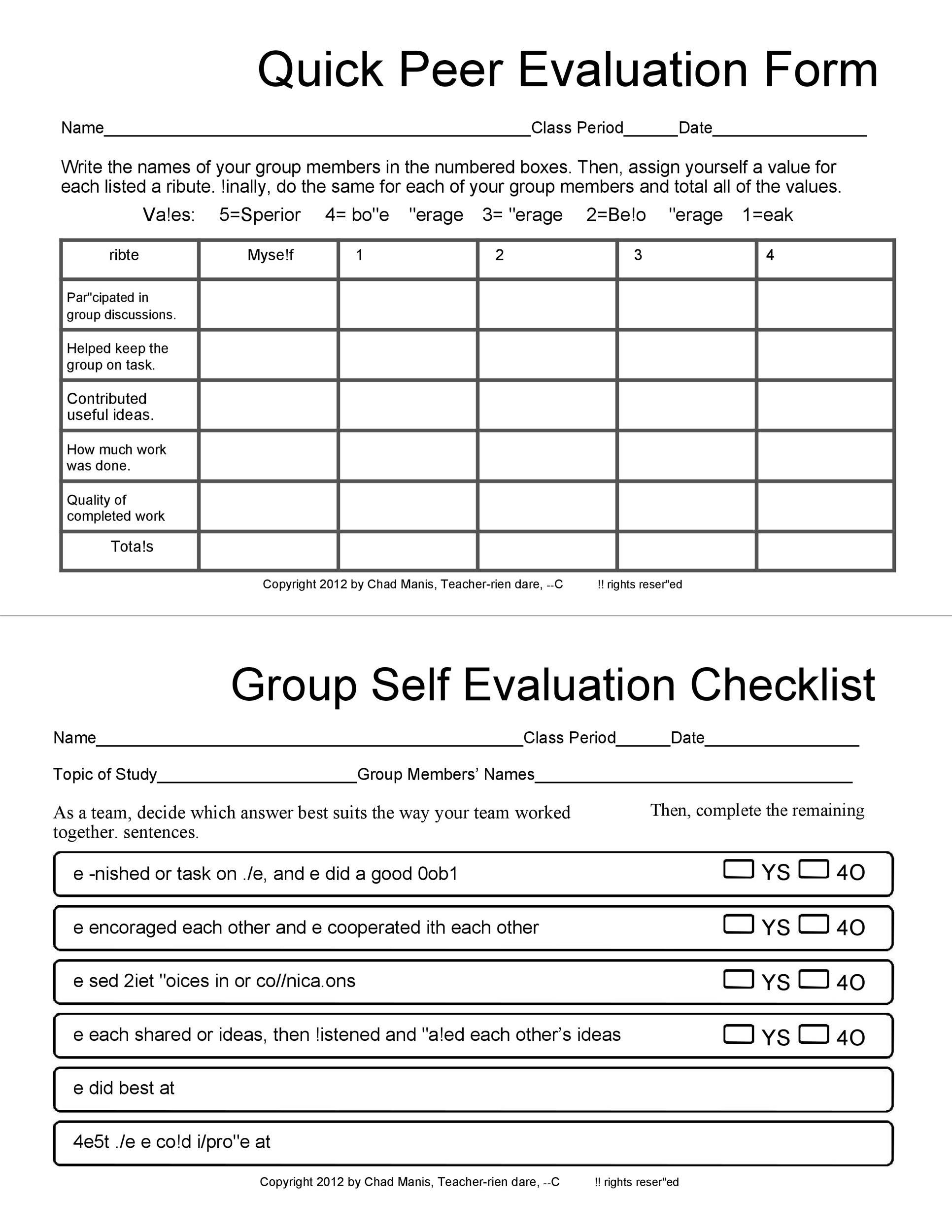 50 Self Evaluation Examples Forms Amp Questions