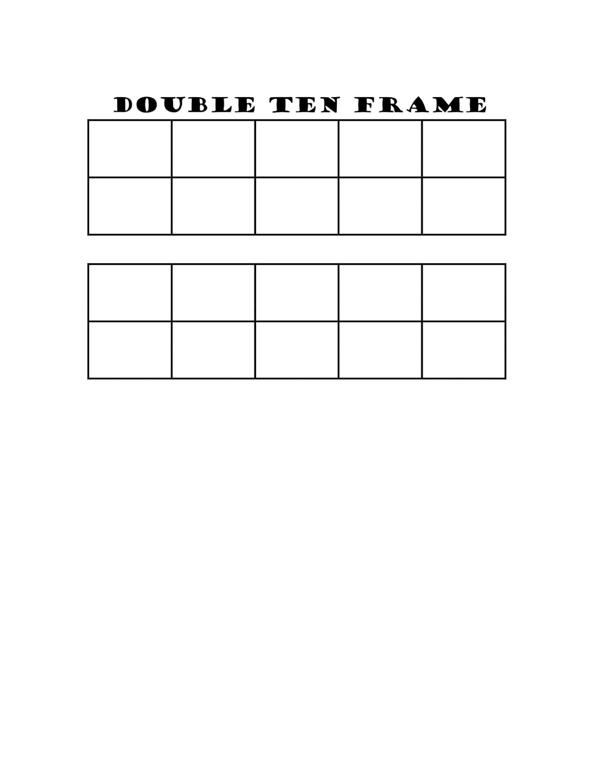 Five Frame Template Printable