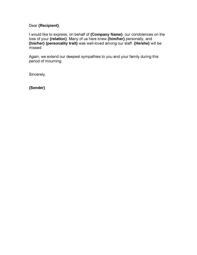 41 Condolence Sympathy Letter Samples