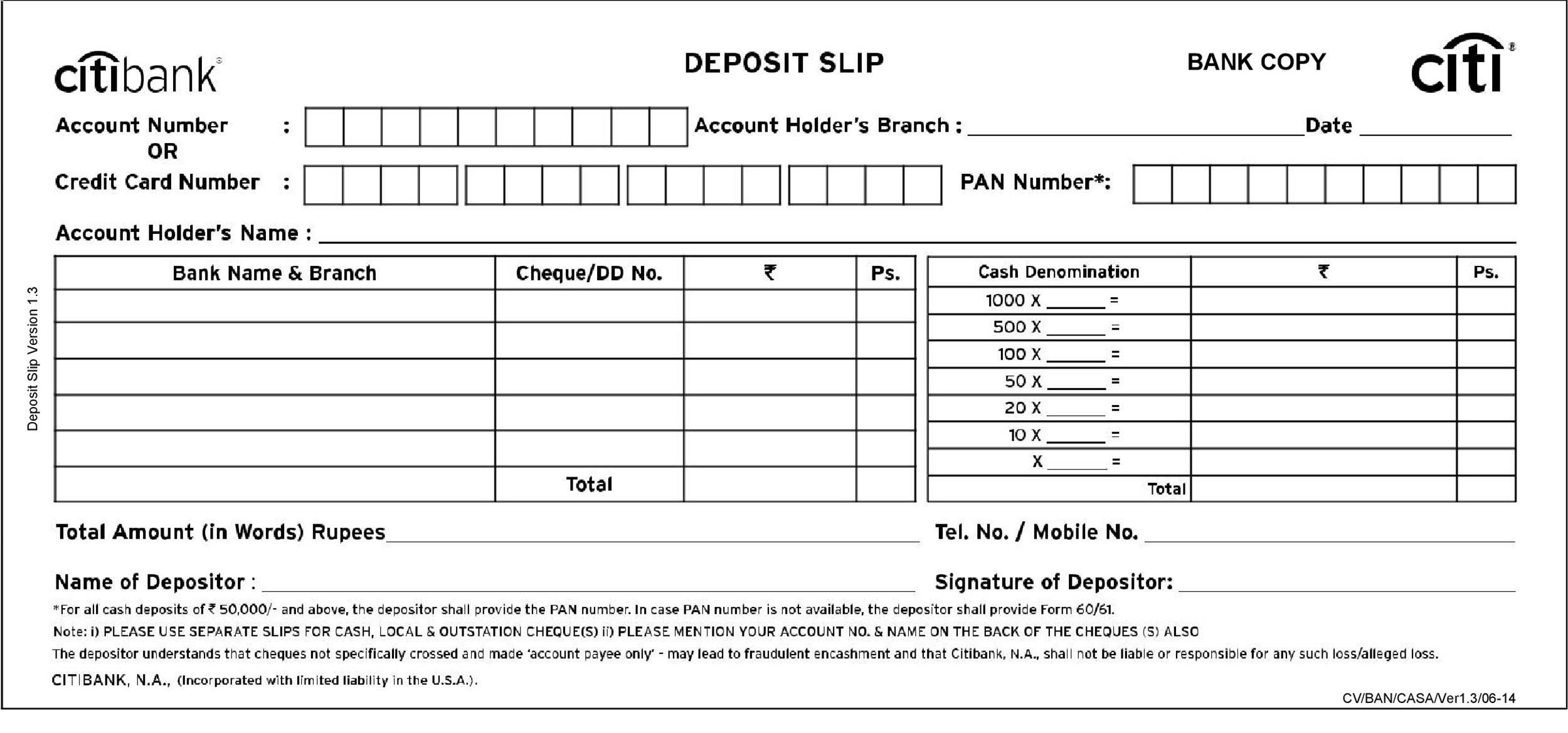 Free 8 Sample Deposit Slip Templates In Ms Word Excel