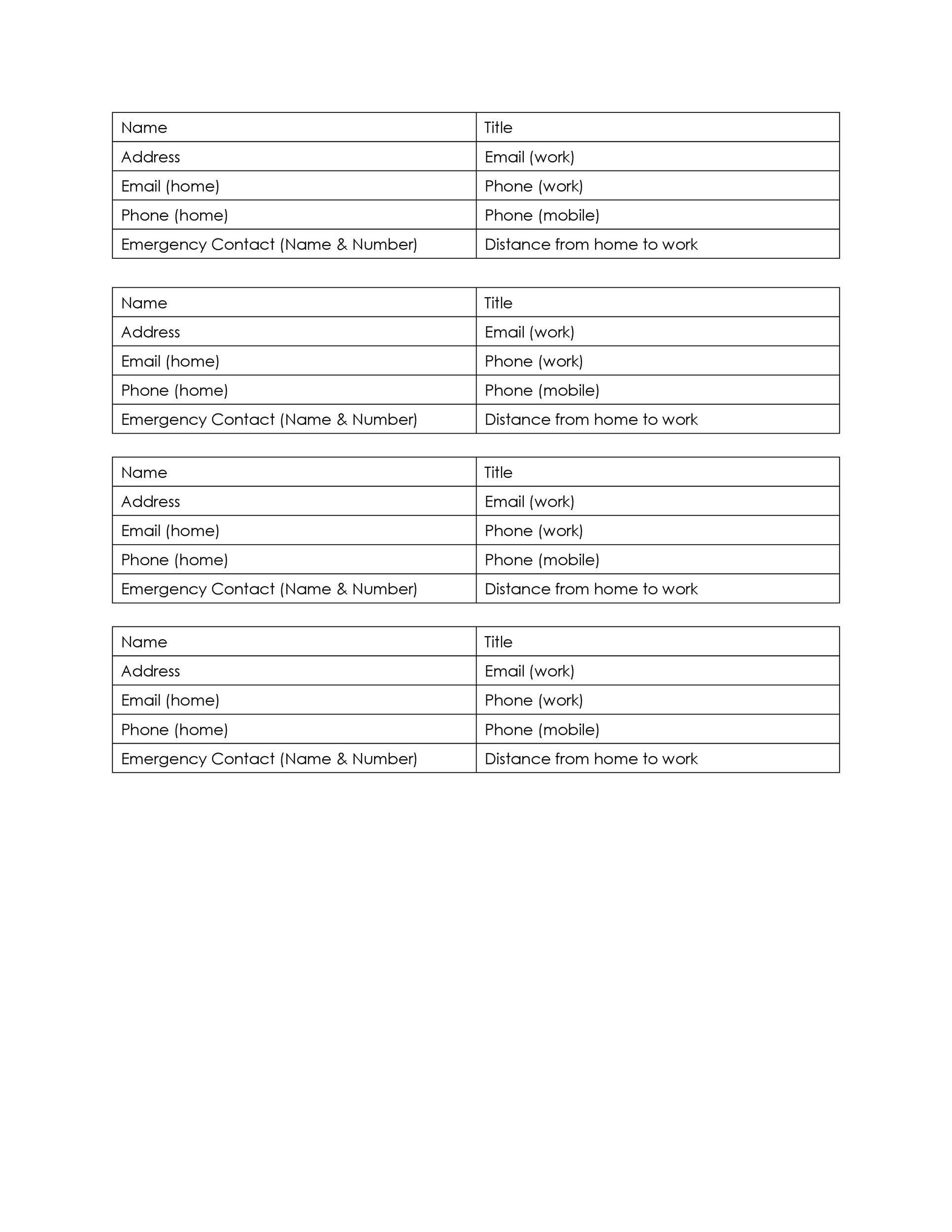 40 Phone Amp Email Contact List Templates Word Excel