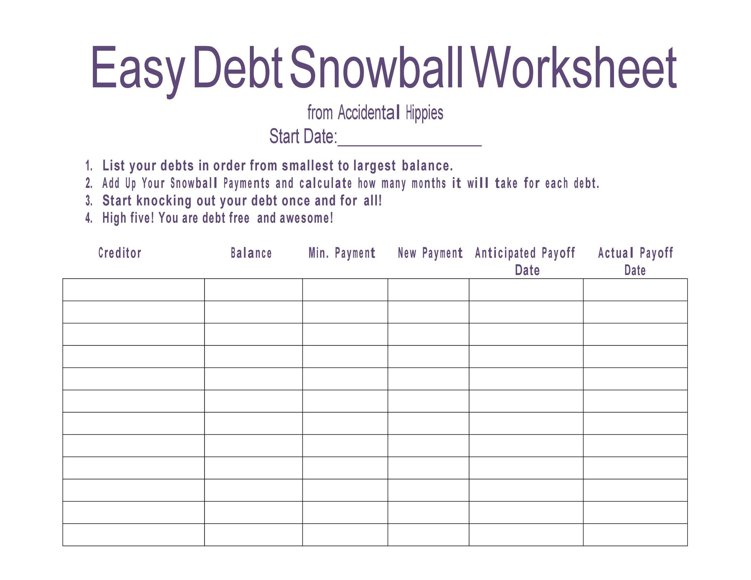 38 Debt Snowball Spreadsheets Forms Amp Calculators