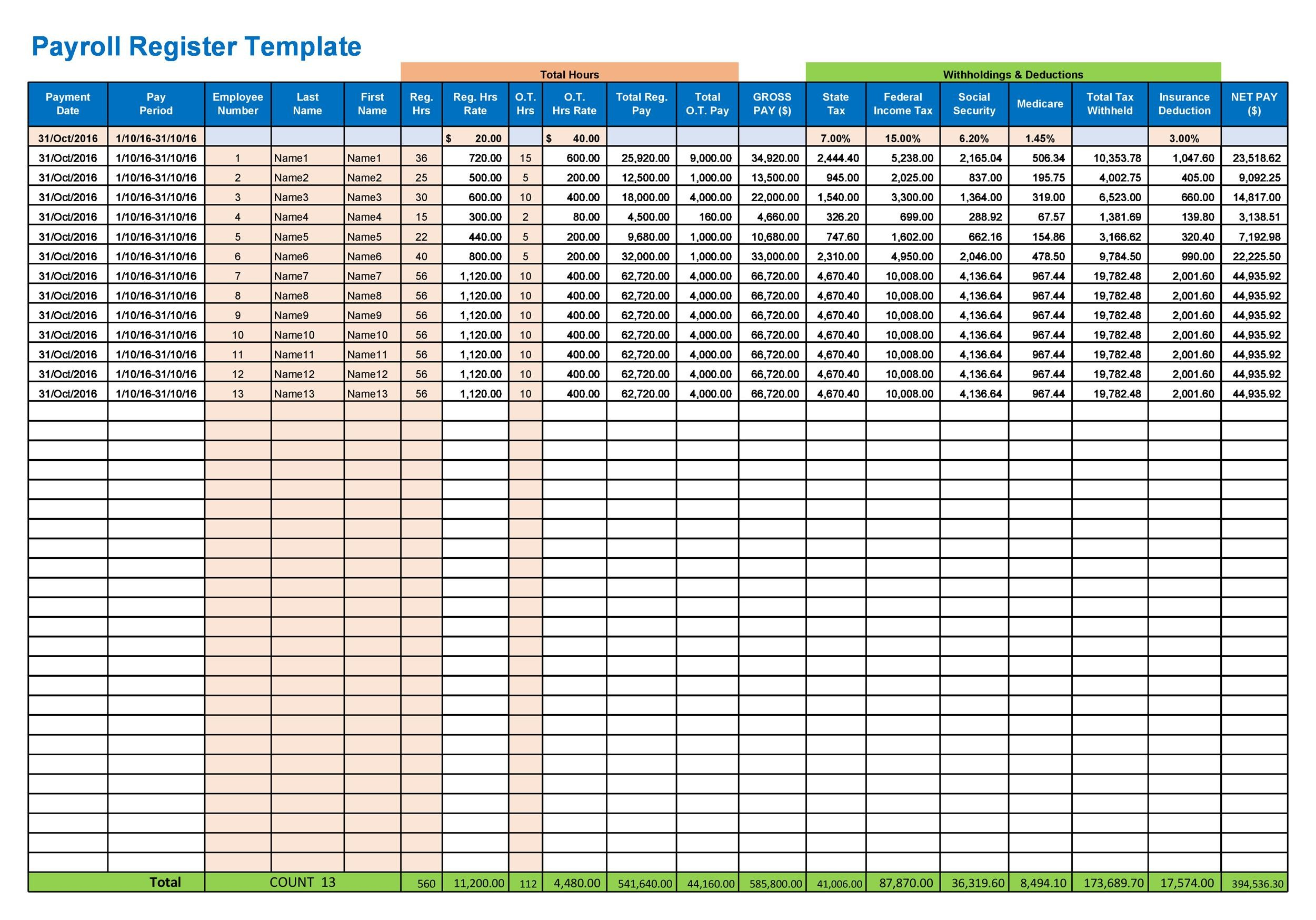 40 Free Payroll Templates Amp Calculators Templatelab