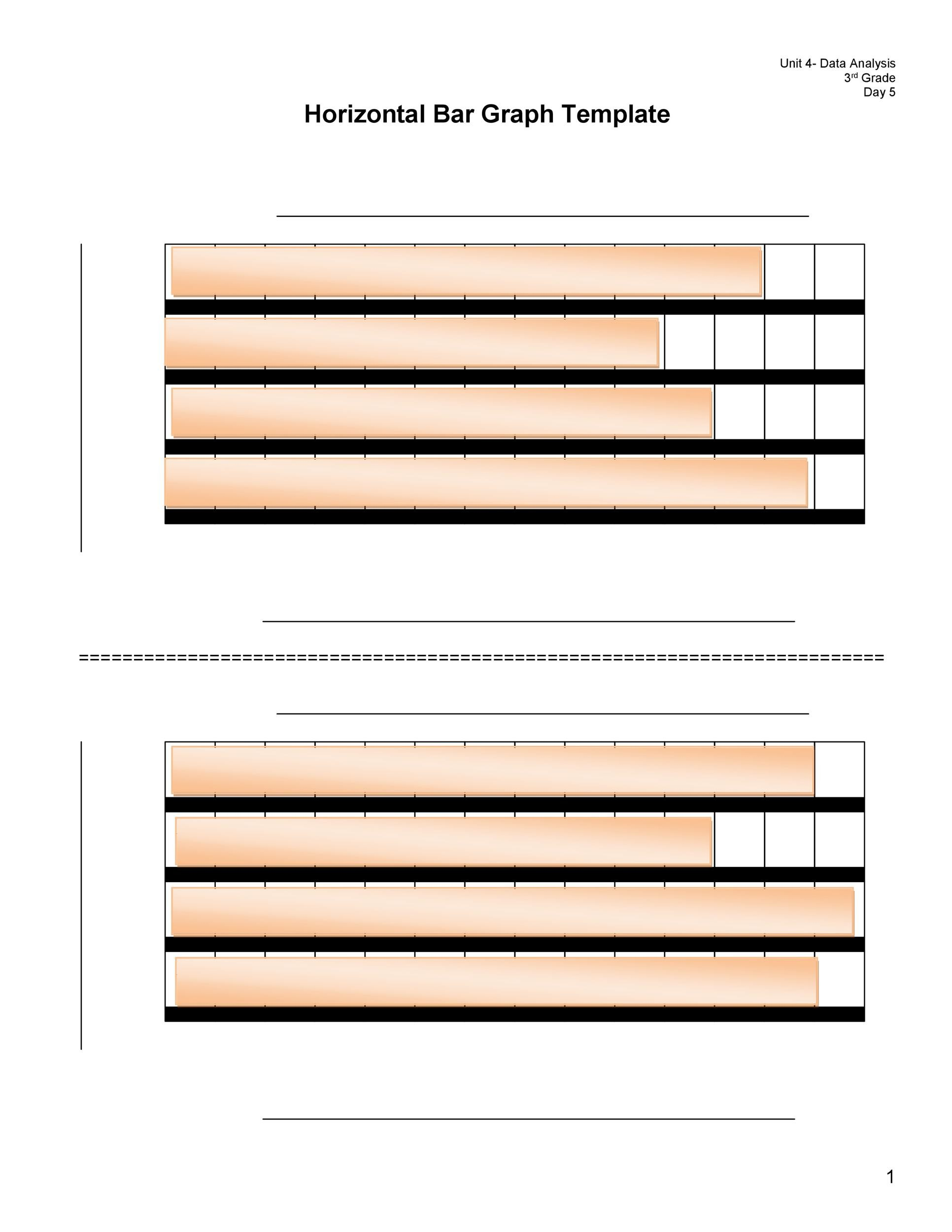 Horizontal Bar Graph Template