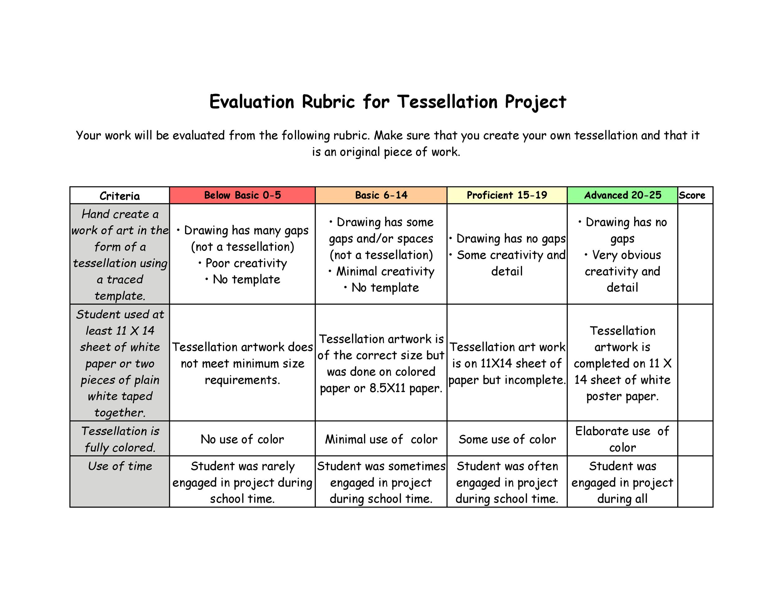 46 Editable Rubric Templates Word Format Templatelab