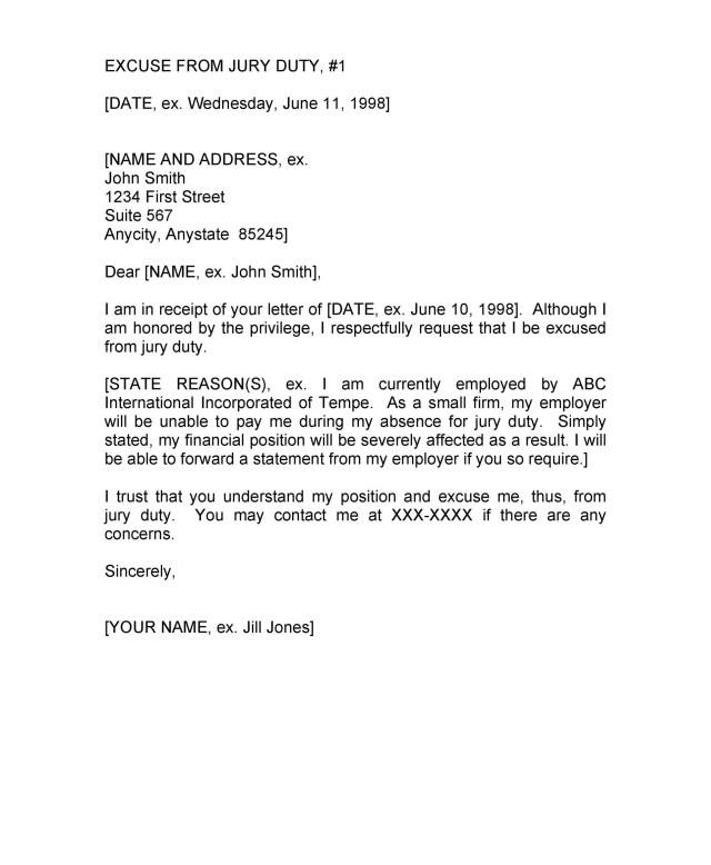 33 Best Jury Duty Excuse Letters Tips