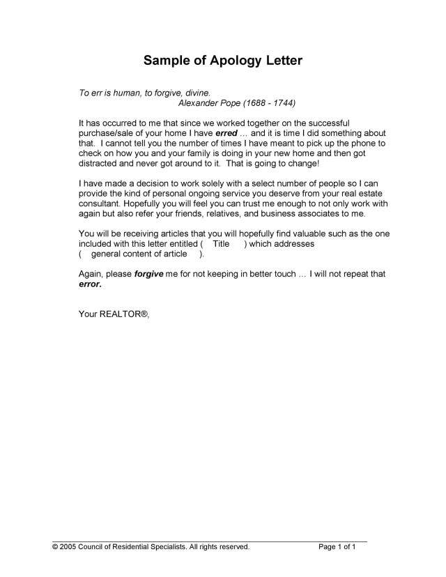 12 Useful Apology Letter Templates (& Sorry Letter Samples)