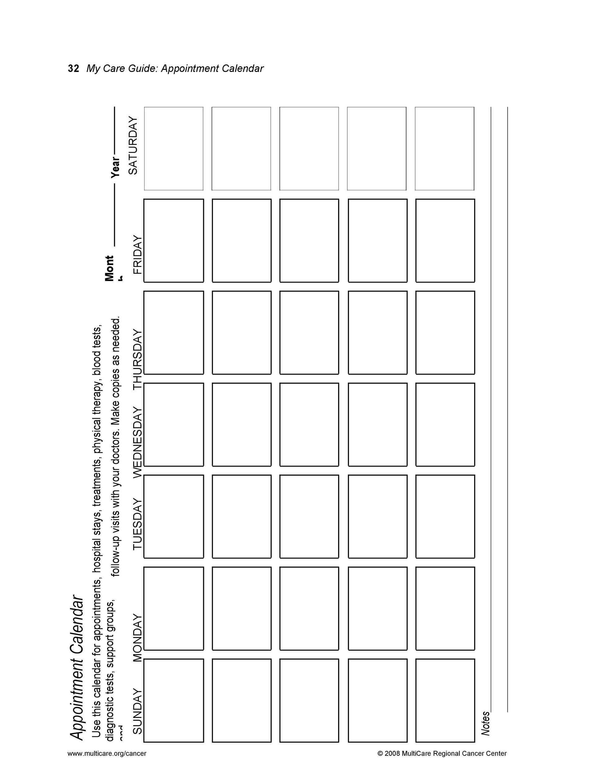45 Printable Appointment Schedule Templates Amp Appointment