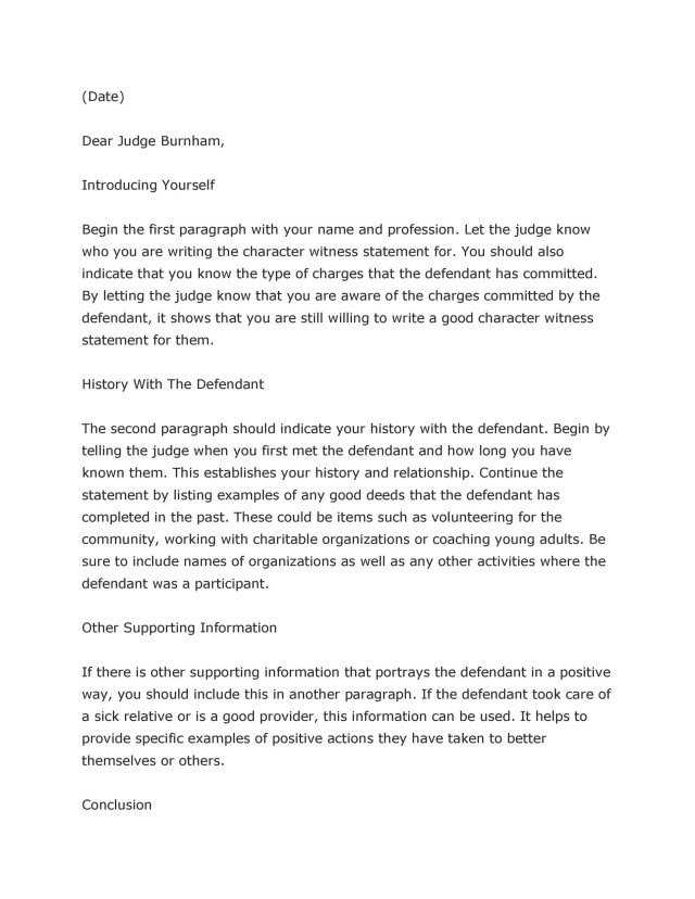 29 Free Character Witness Letters (Examples + Tips) ᐅ TemplateLab