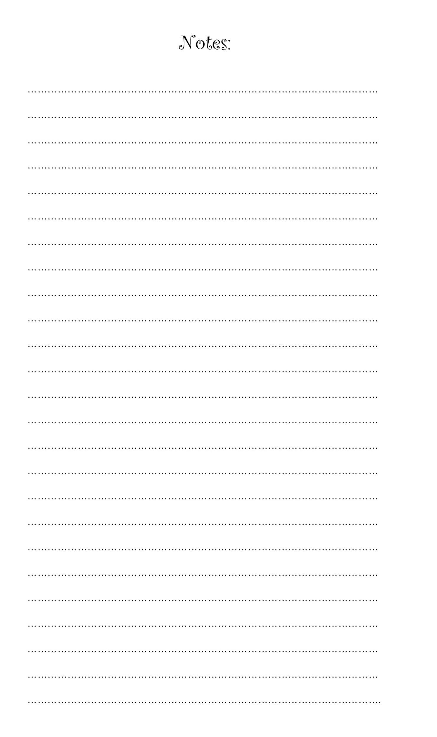 32 Printable Lined Paper Templates Templatelab