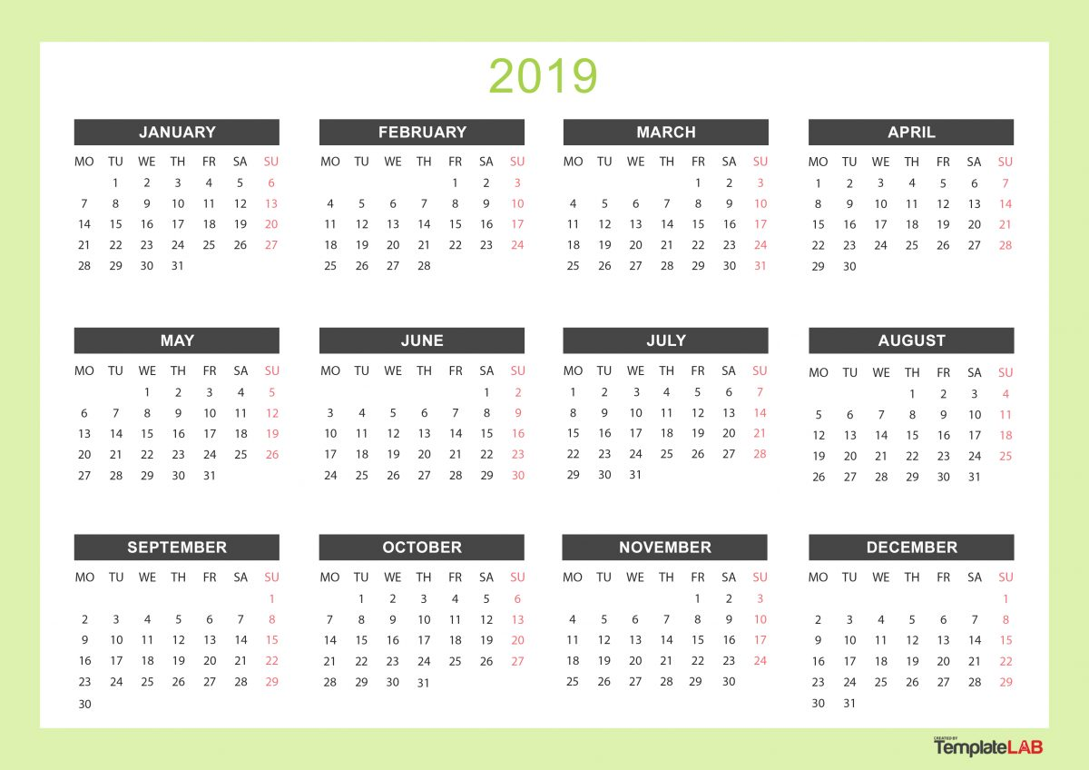 Printable Calendars Monthly With Holidays Yearly Template Lab