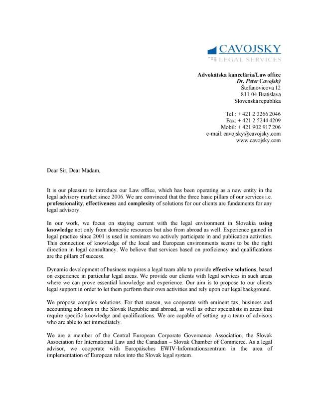 Writing Company Introduction Letter Samples. Letter of