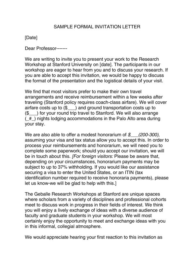 Free Invitation Letter 21