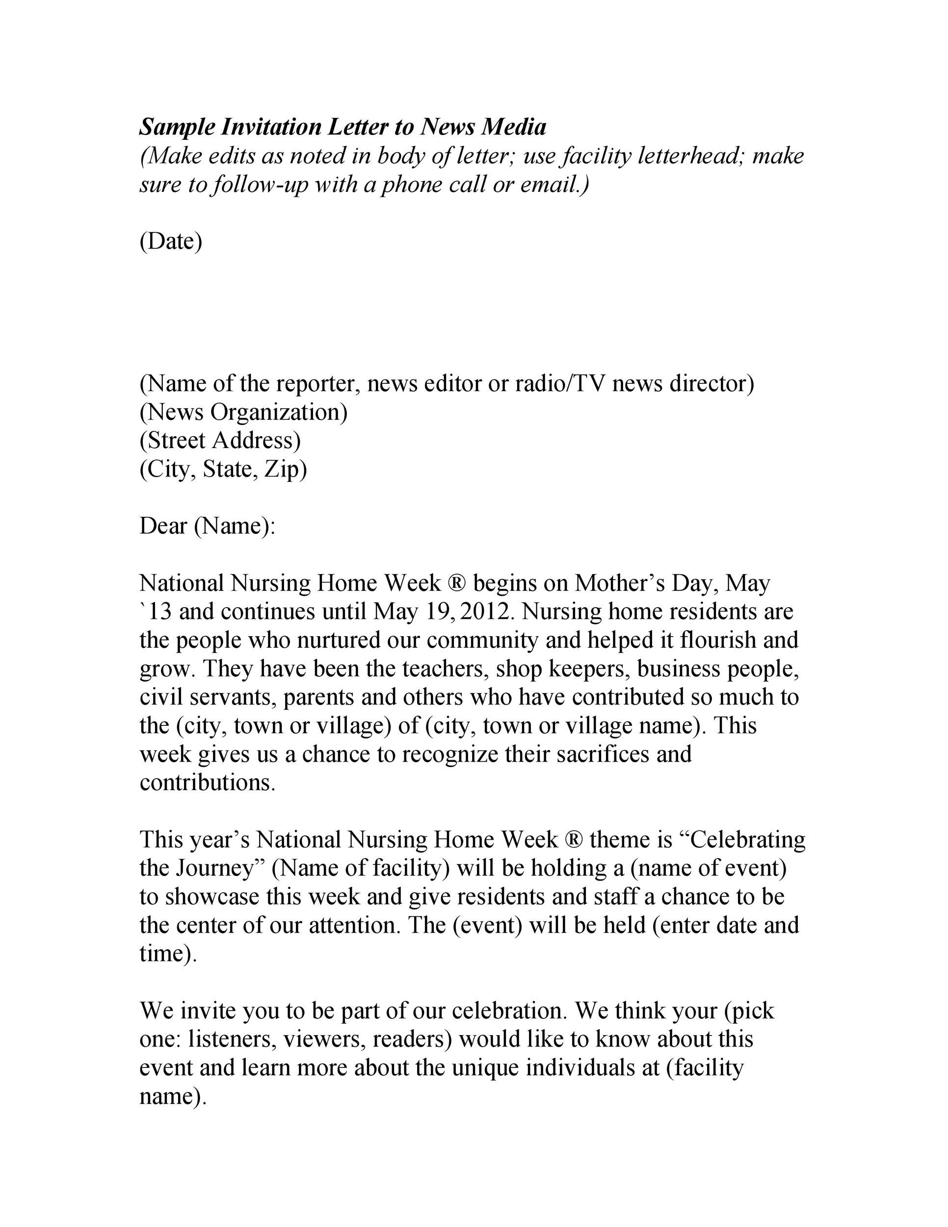 50 Best Invitation Letters For Visa Amp General Templatelab