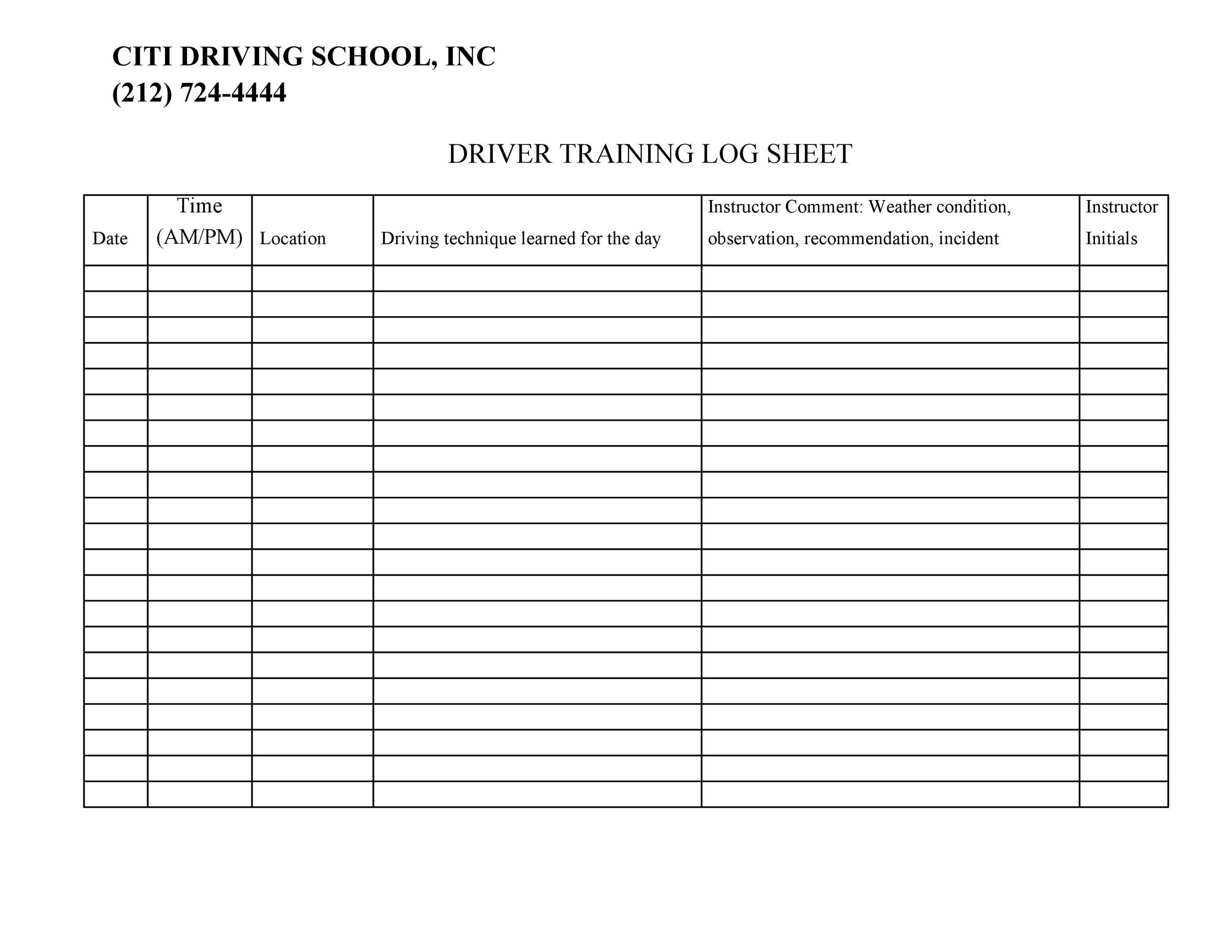 50 Printable Driver S Daily Log Books Templates Amp Examples