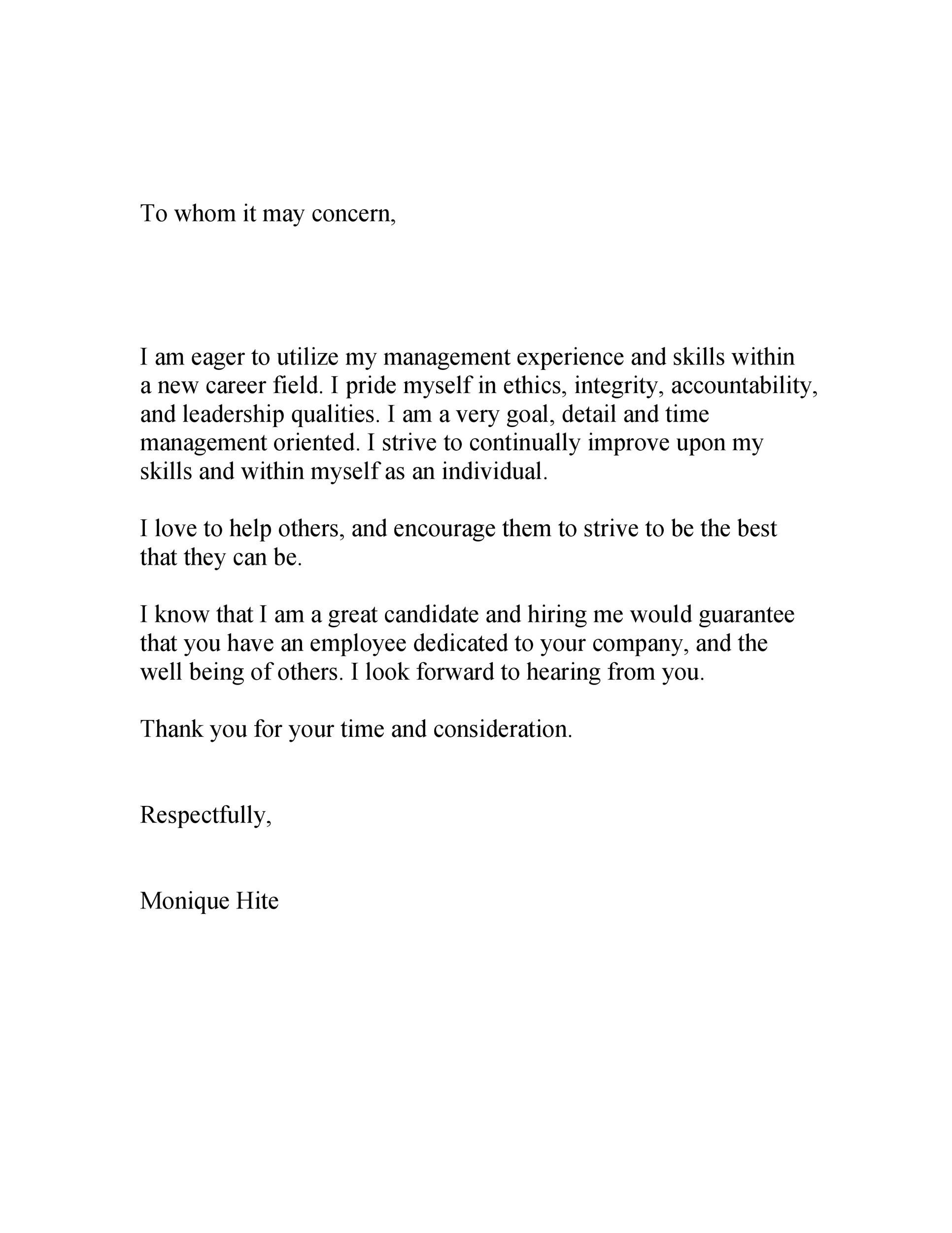 May Whom Official Heading Business Concern It Letter
