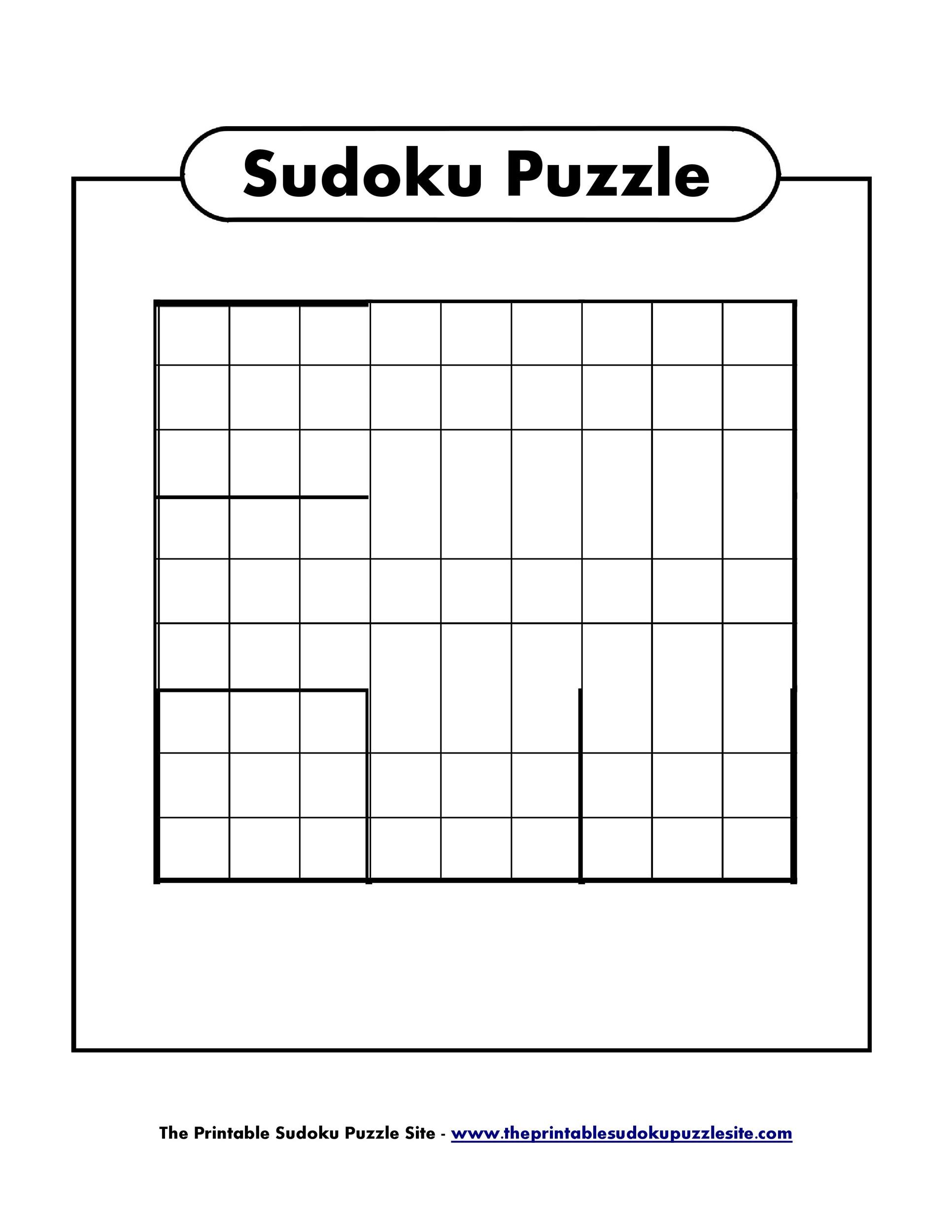 Best Printable Sudoku Grids