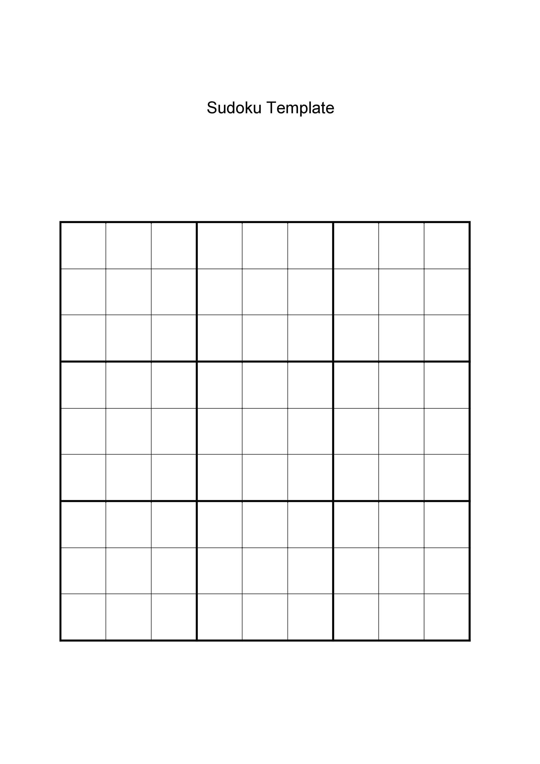 50 Blank Sudoku Grids Free Amp Printable Templatelab