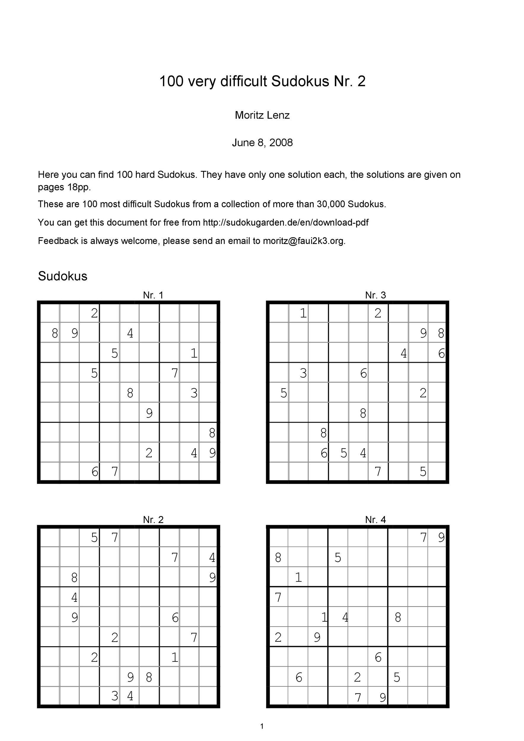 Crush Printable Sudoku 6 Per Page