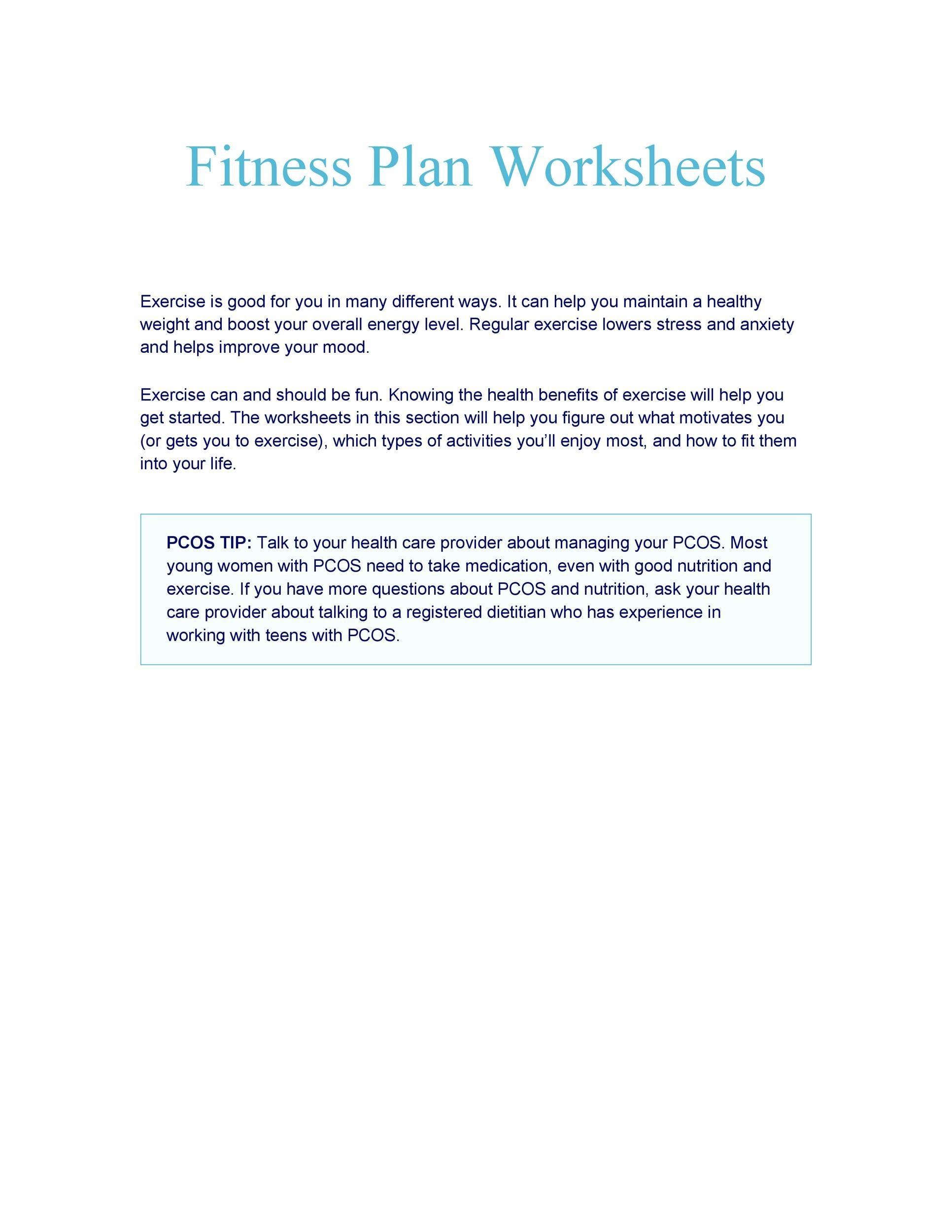 46 Printable Exercise Charts 100 Free Templatelab