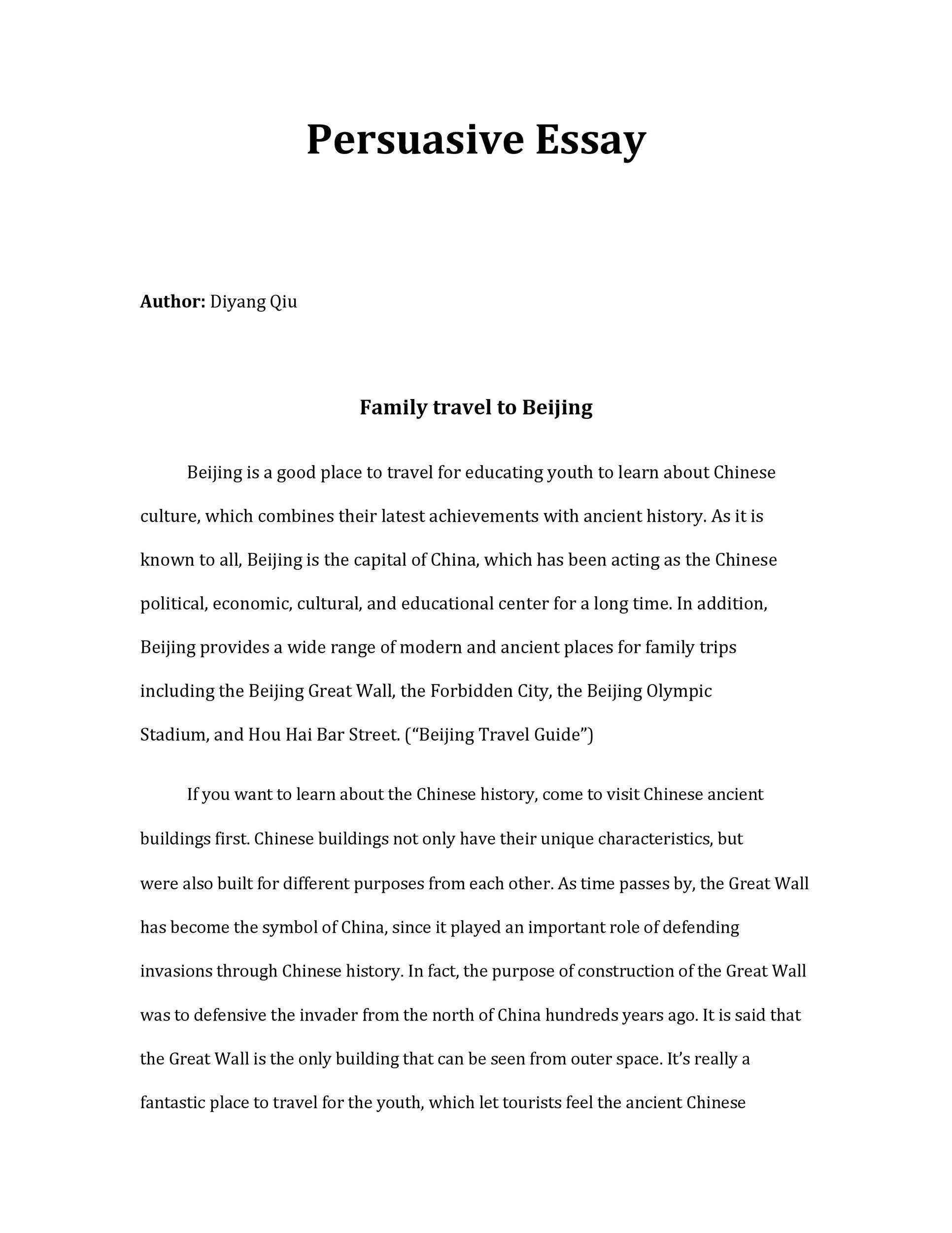 50 Free Persuasive Essay Examples Best Topics Templatelab
