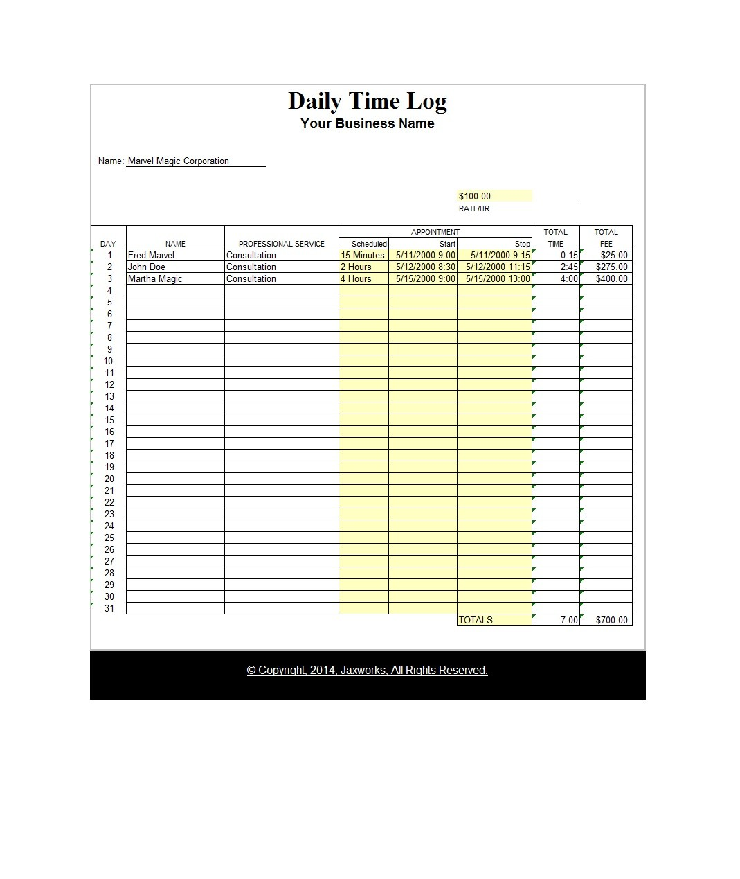47 Free Time Tracking Spreadsheets Excel Templatelab