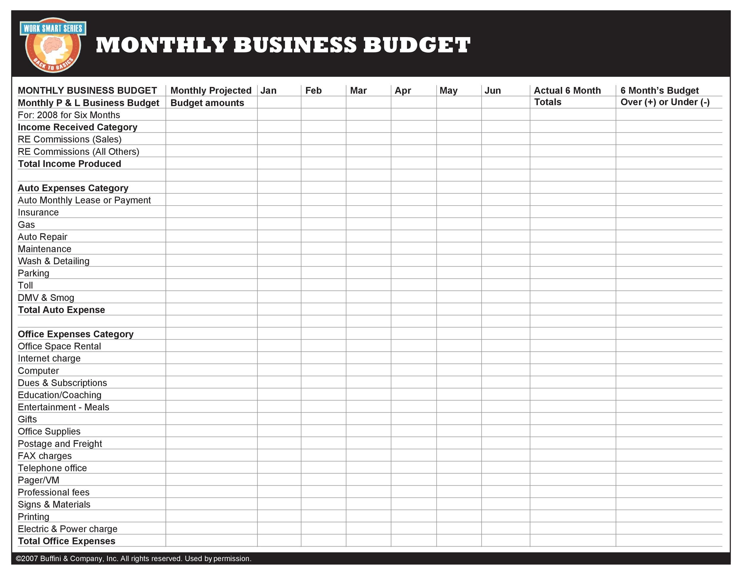37 Handy Business Budget Templates Excel Sheets