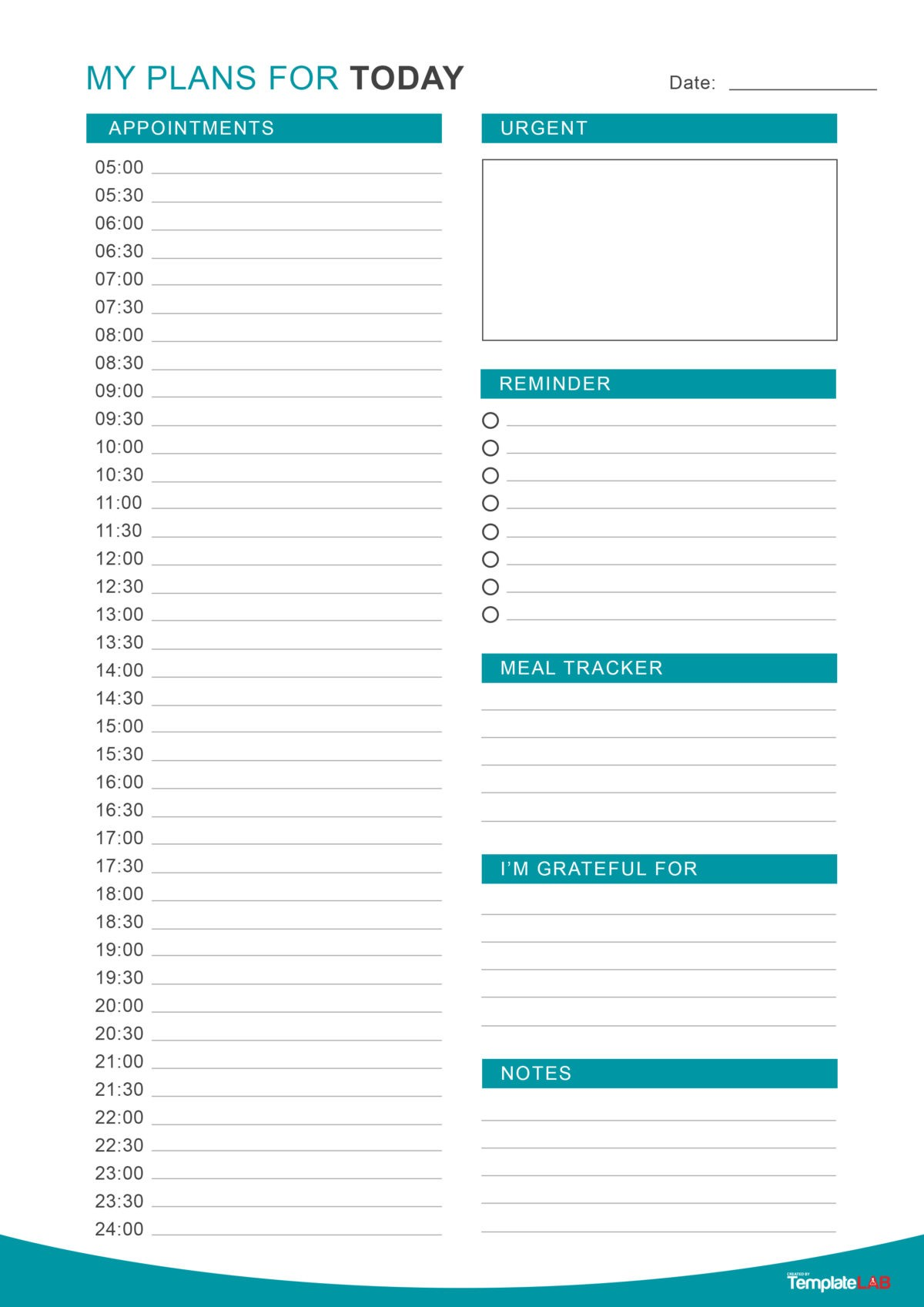 47 Printable Daily Planner Templates Free In Word Excel