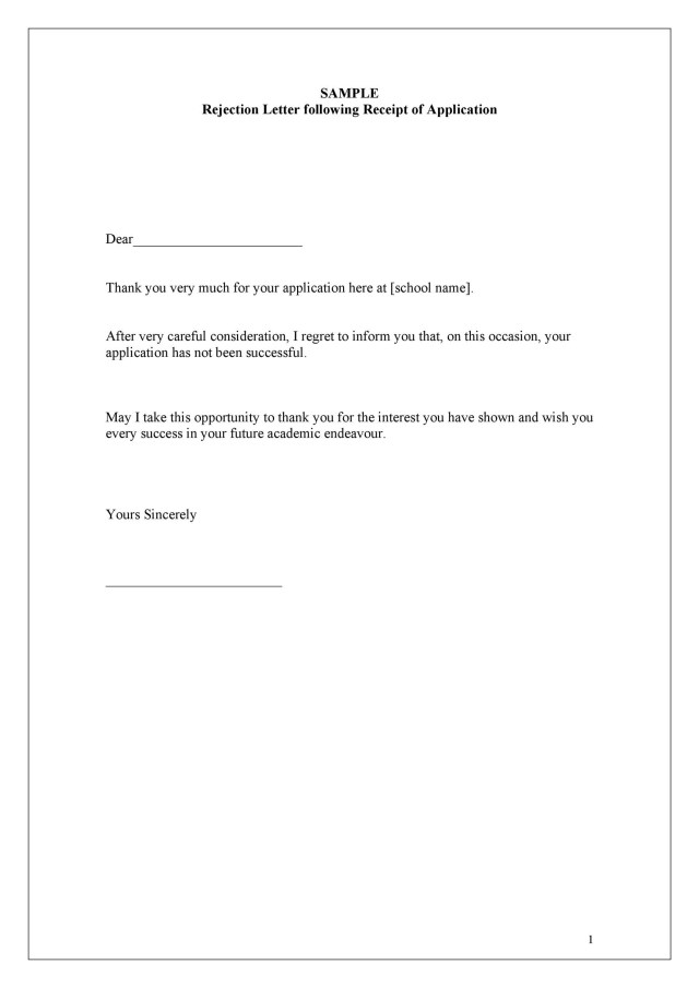 28 College Rejection Letter Samples (& Examples) ᐅ TemplateLab