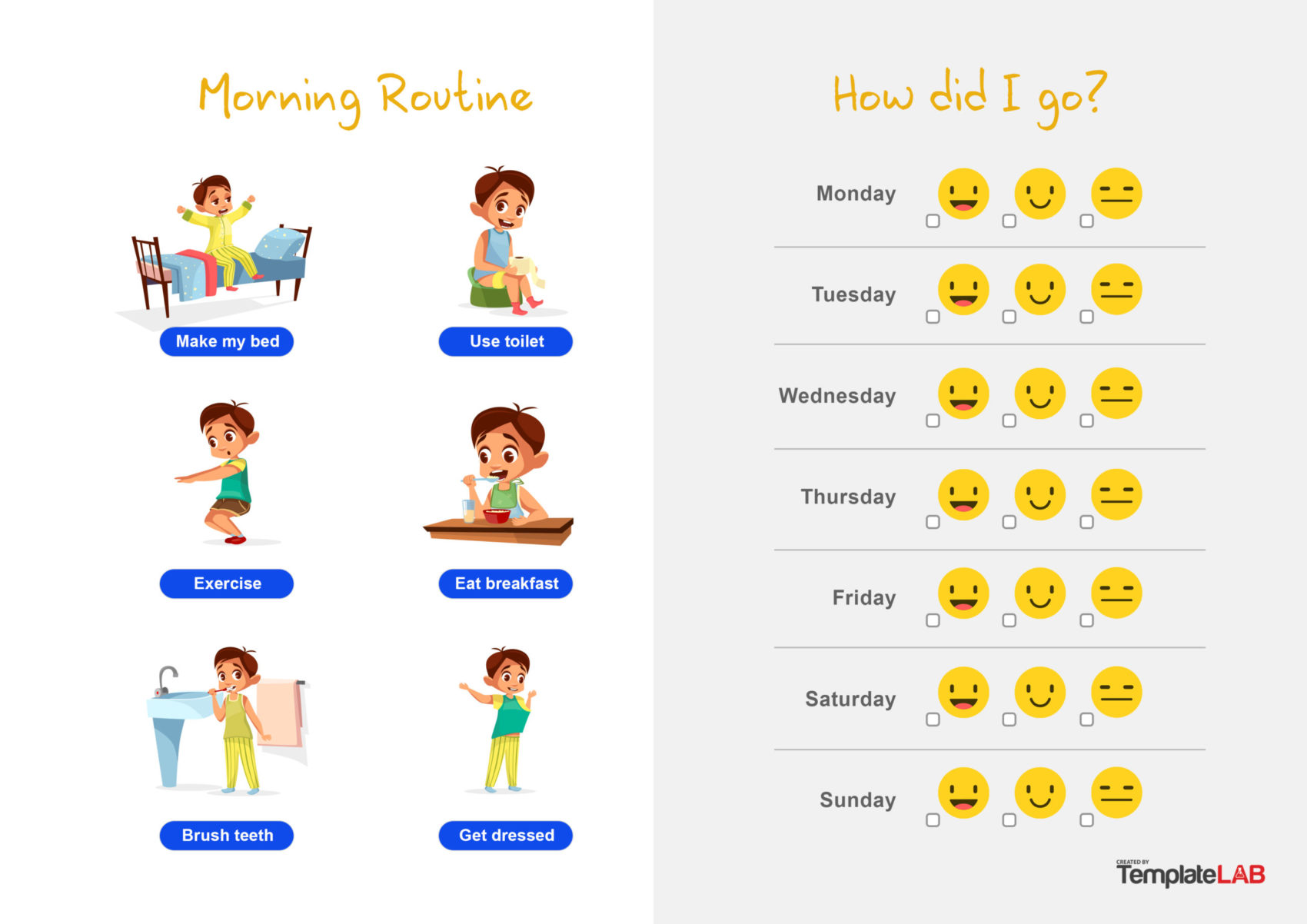 44 Printable Reward Charts For Kids Excel Amp Word