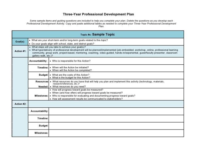 8 Professional Development Plan Templates (Free) ᐅ