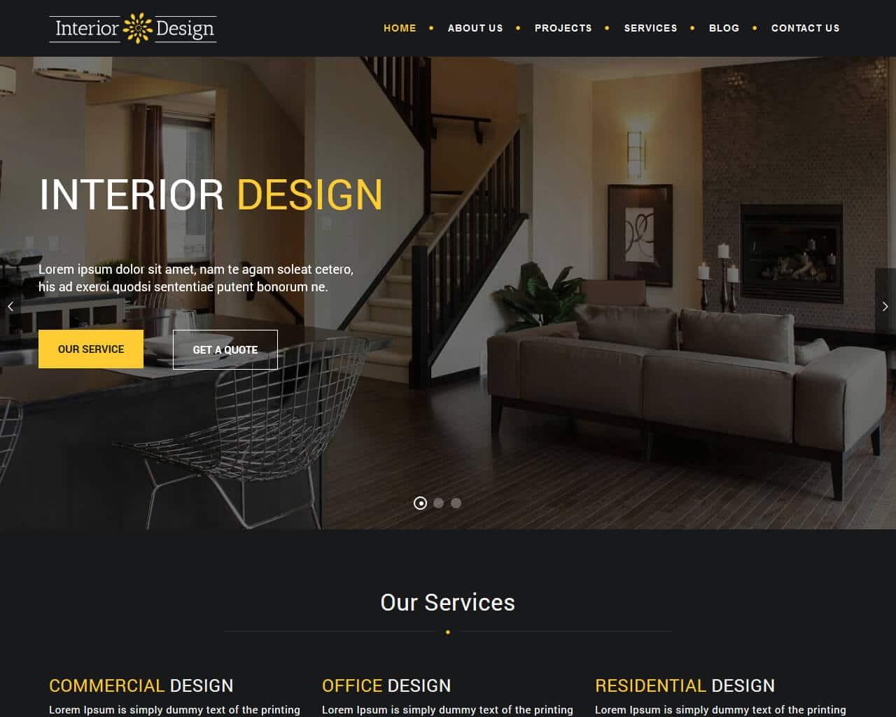 20 Eye Catching Interior Design Website Templates