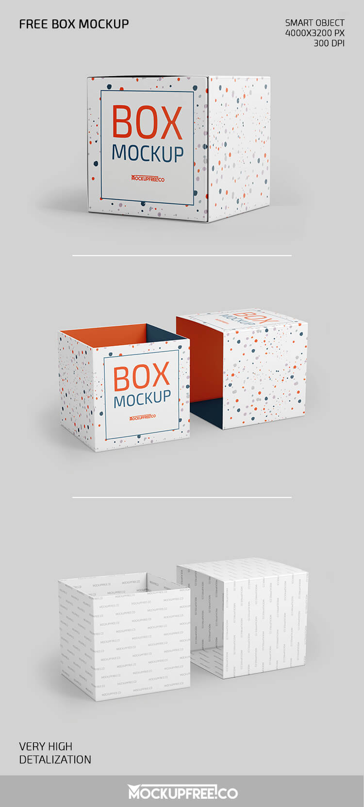 Download Free Square Box Mockup PSD Template - Templaten