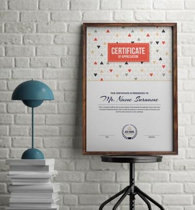 Ares Elegant Portrait Certificate Template