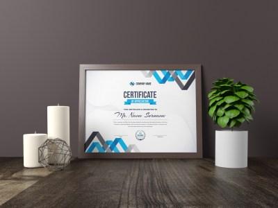 Chevron Elegant Modern Certificate Template