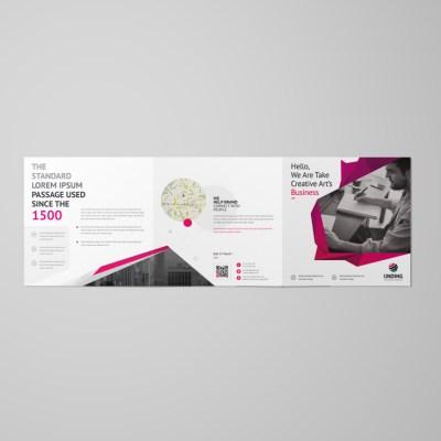 Fancy Elegant Corporate Square Tri-Fold Brochure