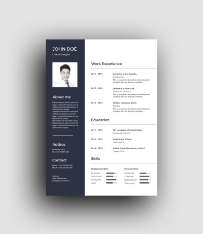 PSD Classic Professional Resume Template
