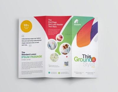 Rainbow Professional Corporate Tri-Fold Brochure Template