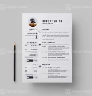 Resume Template with Cover letter