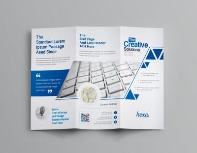 Uranus Professional Corporate Tri-Fold Brochure Template